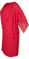 Kirsten Krog Design - Impressive nice layer on layer dress with lining and although draped chiffon cape