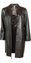 Que - Nice soft half long real leather jacket