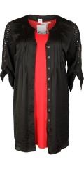 Q'neel - Lang skjorte tunika med ermer som kan drapert og super smart detaljer i ermene