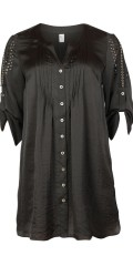 Q´neel - Long shirt tunica with sleeves as can draped and super smart details in the sleeves