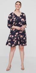 Juna Rose - Vacker figursydd klänning i fast tyg