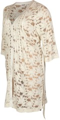 Que - Que long buttoned lace cardigan with 3/4 sleeves
