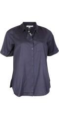 Zhenzi - Klassisk kortermet skjorte i lin look