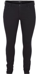 Zizzi - Jeans amy super slim leggings med streck