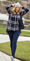 CISO - Skjorte i de fineste rute, klassisk bonde skjorte stil
