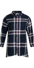 CISO - Skjortebluse i de flotteste tern, klassisk bonde skjorte stil