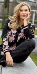 CISO - Hübsch durchgeknöpft Hemd/Tunika in fest Stoff mit V-Hals und Sports Rippen