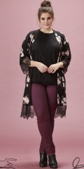 Zhenzi - Kimono in although strechy material with 2/4 sleeves