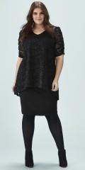 Zhenzi - Stylish two-level lace dress with short sleeves