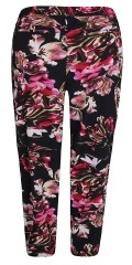 Zhenzi - Pants loose fit in although flowery hard fabric with rubber band and tie string in the waist