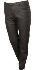 Coated twill stomp pants, med strech og regulerbar elastik i taljen