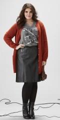 Zhenzi - Gennemknappet cardigan med uld og med lommer