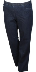 Zhenzi - Jazzy pants denim with rubber band in whole the waist