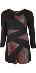 Handberg - Tunica in a-shaped and in sewn smart print