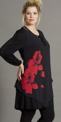 Handberg - Tunica layer on layer with chiffon top, which has a beautiful flowers print