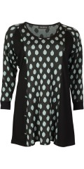 Handberg - Tunica with long sleeves in nice knitted quality with nice decoration buttons