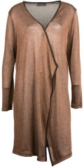 Handberg - Cardigan in thin copper knit with long sleeves