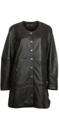 Handberg - Nice lambskin jacket in retro style. All-buttoned and with lining