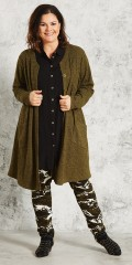 Gozzip - Long cardigan with buttons and pockets on sloping