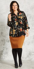 Gozzip - Nice blouse in hard fabric with