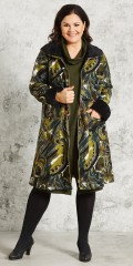 Gozzip - Impressive nice zipped-through jacket with lining/fake fur, lined is visible at sleeves and in collar