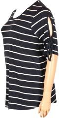 CISO - Jersey tunika mit rund hals und kurze Ärmeln mit schnürband