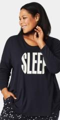 """Zizzi - Nacht T-Shirt mit rund Hals und Druck """"sleep"""""""