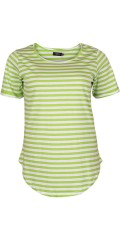Vanting  - Striped basis t-shirt with round neck
