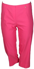 Robell - Bella slim fit 7/8 pants with slit in the legs