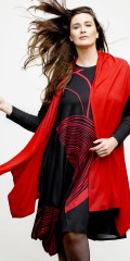 Q'neel - Vest in nice stretchable viscose  and soft collar