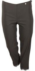 Robell - Marie 7/8 bukse med påsydd blonde kant på benene