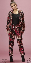 Zhenzi - Suitjacket/blazer-jacket in although flowery hard fabric