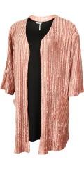 Gozzip - Kimono jakke med 3/4 ærmer og 2 skrå lommer i blank velour