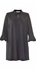 Gozzip - Tunica/dress with gold thread, flounce edge in the sleeves and round neck with a nice slit