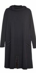 Gozzip - Smart kjole med fossen krage og fine effekt med lisser