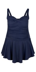 Zizzi - Bathing dress with good width in the skirt and adjustable straps