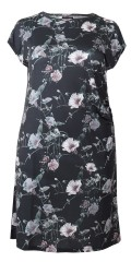 Cassiopeia - Henriette dress with short sleeves and round neck in nice pattern and little rubber band in the one side