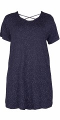 Cassiopeia - Felice dress with short sleeves and nice cross on the back
