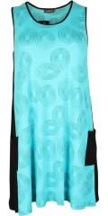 Handberg - Tunika klänning utan ärmar och med 2 fickor, i bra a-formad
