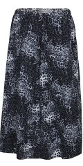 Zhenzi - Half long leopard skirt with rubber band in whole the waist sewn in tracks in strækbart material
