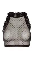 Zoey - Dot Spitze Top mit Elastik Kante unter die Brust