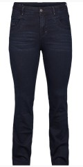 Adia Fashion - Curvy fashion jeans monaco with stretch also adjustable rubber band in the waist