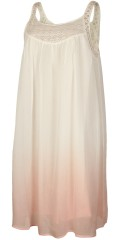 Adia - Sweet summer dress with lace support piece and dip dye
