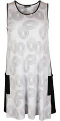 Handberg - Tunika Kleid ohne Ärmeln und mit 2 Taschen, in gut A-Form