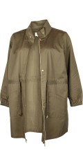 Zizzi - Light and stylish half long jacket with guldfarvet zipper