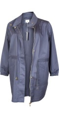 Zizzi - Light and stylish half long shirt jacket with guldfarvet zipper