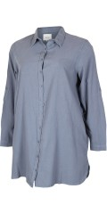 Zizzi - Stylish big shirt in zizzis well-known cotton