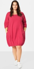 Zizzi - Jelena cotton dress with 3/4 sleeves and 2 pocket
