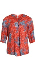 CISO - Blouse with 3/4 sleeves and v cutting and in smart printed pattern
