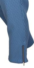 7/8 Stretch Hosen mit Elastik in die Taille in hübsch strechy Strukturgewebe Stoff